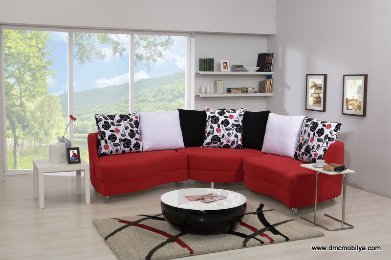 Köşe koltuk takımı lovely kırmızı